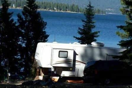RV Overlooking Lake Almanor